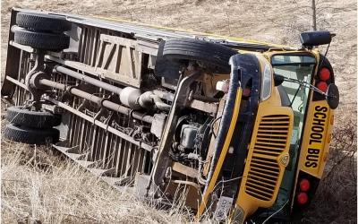 School Bus Low Speed Rollover Could Have Been Deadly