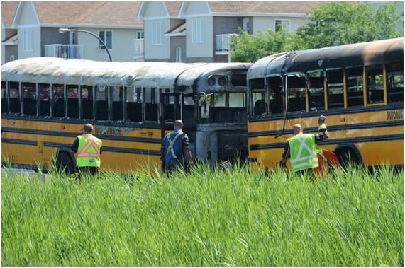 Red Herrings in Fire Involving Two School Buses Near Montreal