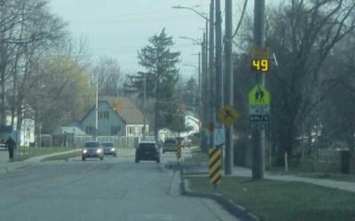Evaluation of Speed Display Boards in School Zones in London Ontario
