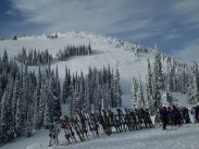 Looking up at Headwall