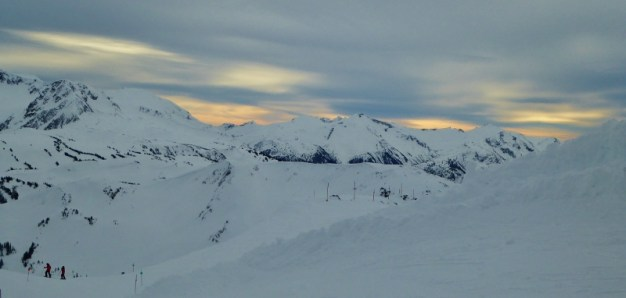 Looking out towards Flute Bowl
