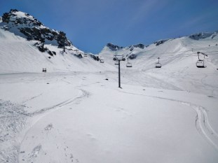 Spring pow off Glacier Chair