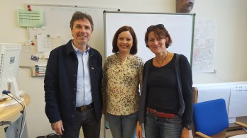 z dyrektorem Uwe i wicedyrektor Susanne