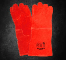 Red Heat Gloves: Dromex red heat gloves sewn with kevlar. Comes in 20cm length Open Cuff