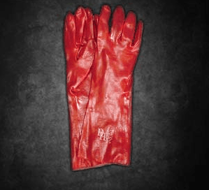 Red PVC Elbow Open Cuff GPVC35
