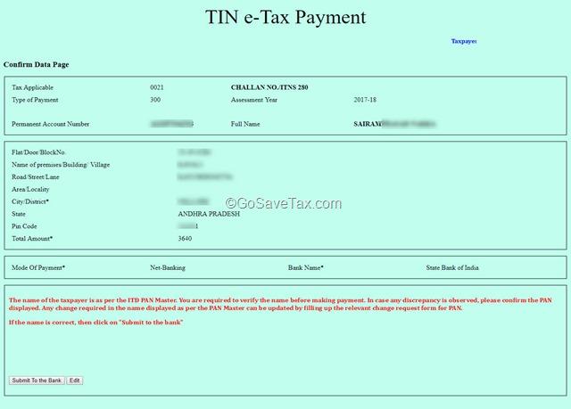 TIN e-Tax Payment