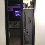 Black Secret Storage Mirror - Hidden Safe for Weapons