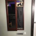 Mahogany Secret Storage Mirror - Hidden Storage for Guns