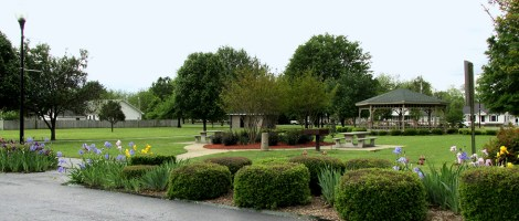 The serene Daniel Park in downtown Beebe