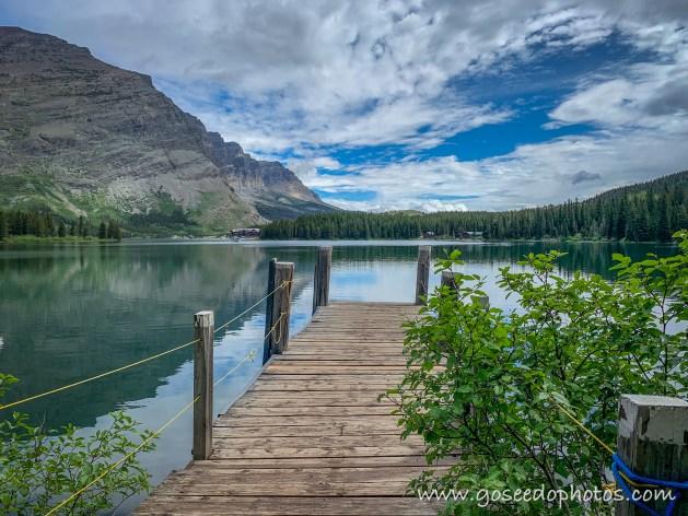 Dock on Swiftcurrent Lake