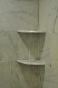easy diy floating shelf for shower