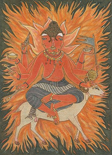 Agni, Lord of Fire, on Ram