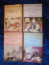 A History of the English-Speaking Peoples Volumes 1,2.3 and 4 - Winston Churchill books