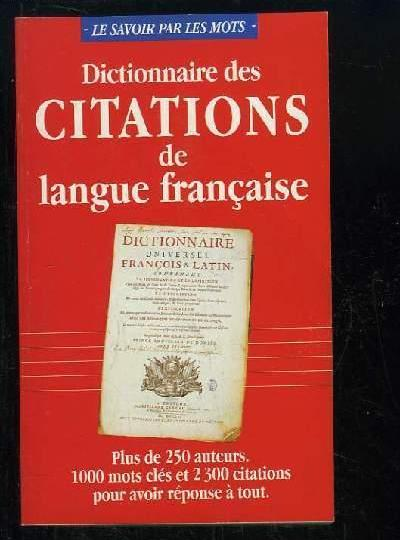 Dictionnaire des Citations de Lange Francaise book