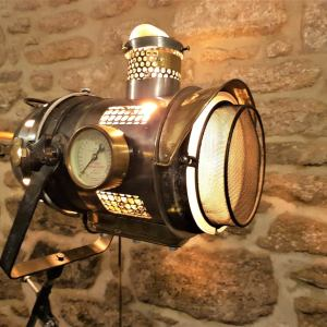 The Steampunk Tripod Searchlight lamp. 1