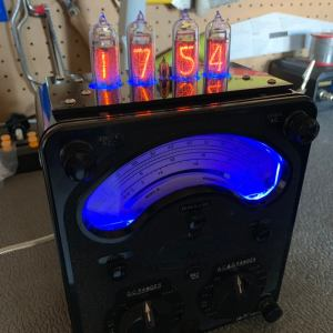 Steampunk Nixie Tube Clock On AVO An Meter. 1