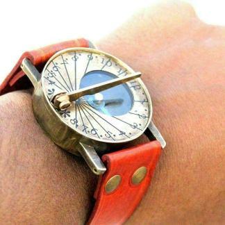 Brass Steampunk Wearable Sundial. 1