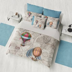 Steampunk Hot Air Balloons Duvet cover or Comforter. 1