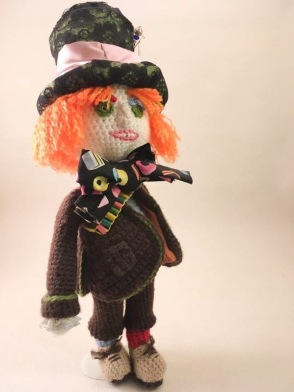 The Mad Hatter Amigurumi Doll.