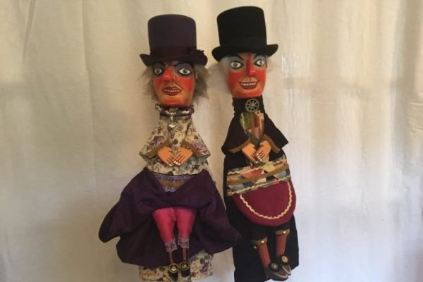 Steampunk Punch and Judy Puppets 2