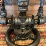 Vintage Machine Age Steampunk Lamp. 4