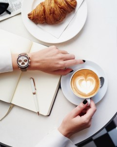 Cappuccino with Omega Speedmaster
