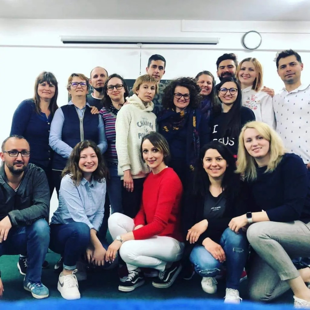 Leadership training in Romania.