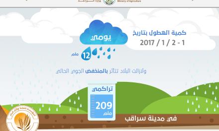 انفوغراف الهطولات المطرية