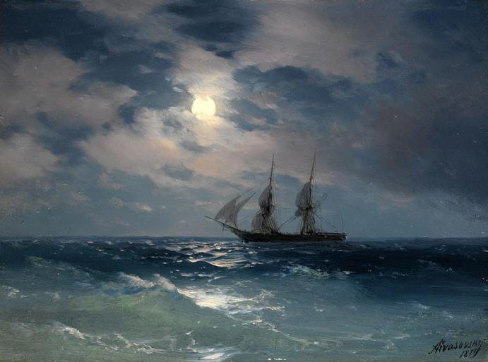 the-brig-mercury-in-moonlight-ivan-konstantinovich-aivazovsky