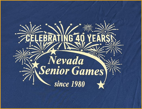2020 Nevada Senior Games tee shirt art