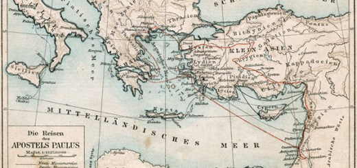 パウロの宣教旅行地図