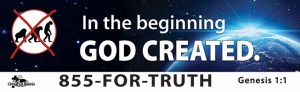 """In the Beginning God Created"" billboard message"