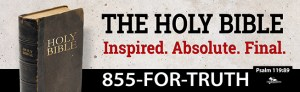"""The Holy Bible Inspired. Absolute. Final"" billboard message"
