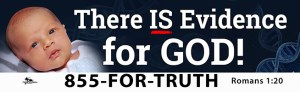 """There is Evidence for God!"" billboard message"
