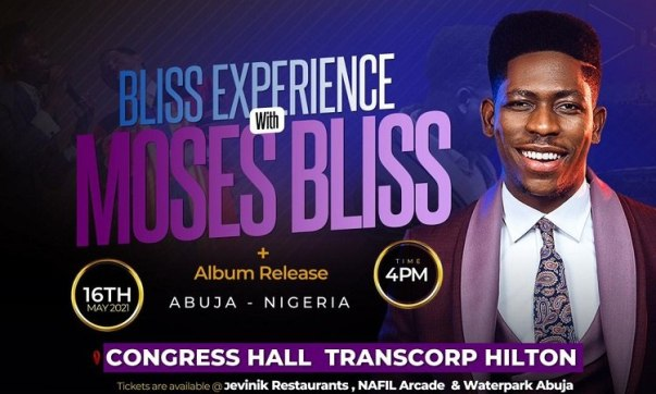 Moses Bliss set for first major Concert And Album Release