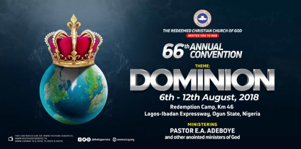 RCCG 66th Annual Convention 2018 » Programme Schedule