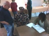 Jim Jenkins, Milton and Lisa Moorman conversating