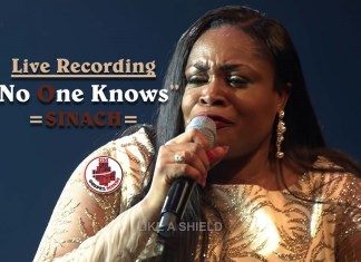 Live Recording Sinach No One Knows