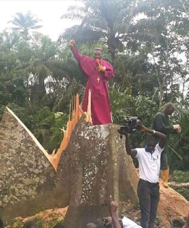 Nigerian Pastor cuts down 100 Year old