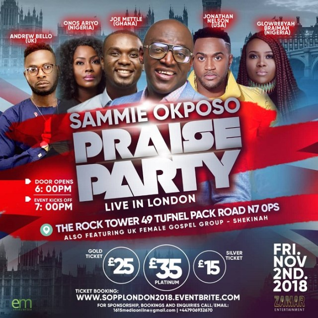 Sammie Okposo Praise Party Live In London
