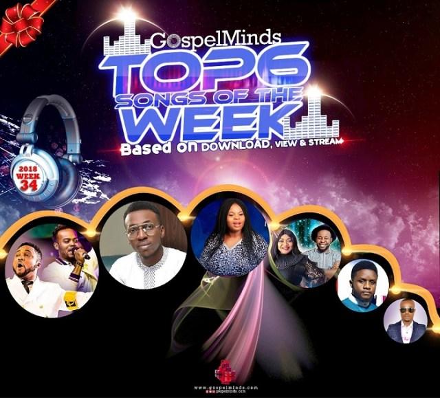 TOP 6 Gospel Songs of The Week 20th - 25th August 2018