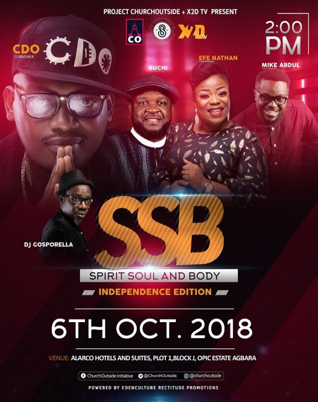 ChurchOutside Initiative & X2D present 'Spirit Soul And Body Concert'