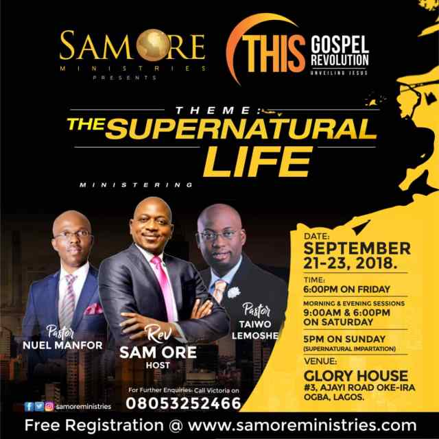 Sam Ore Ministries presents THIS GOSPEL REVOLUTION 4