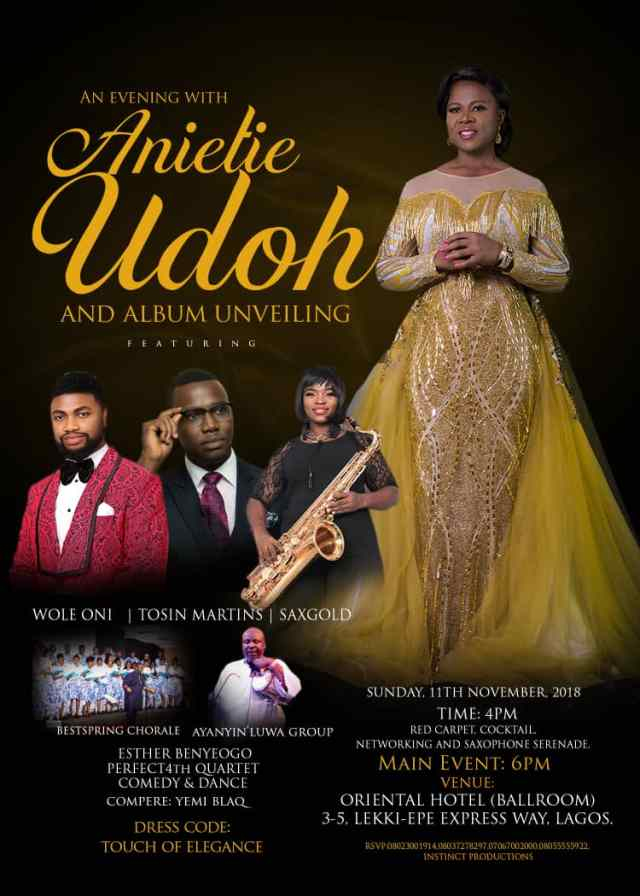 An Evening With Anietie Udoh Ft. Wole Oni, Tosin Martins - Album Nov. 11