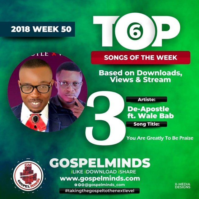 DeApostle Ft. Wale Babz – You Are Greatly To Be Praise NO. 3