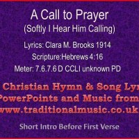 A Call to Prayer lyrics