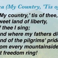 America (My Country, 'Tis of Thee)