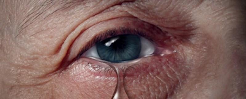 man with tear
