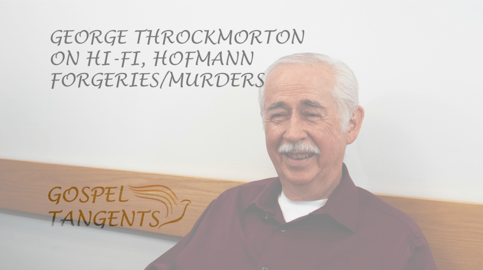 George Throckmorton figured out how Mark Hofmann was forging documents.