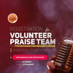 Do You Want To Be Part Of The Volunteer Praise Team For 77Hours Marathon Messiah's Praise?? Click For Full Details!